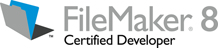 FileMaker 8 Certified Developer Logo