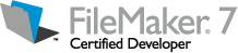 FileMaker 7 Certified Developer Logo